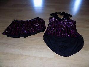83c63fb60806 Size Child XL Weissman Pink Black Sequined Zebra Print Dance Leotard ...
