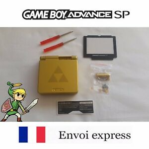 Coque-GAME-BOY-ADVANCE-SP-or-ZELDA-edition-NEUF-NEW-tournevis-shell-case-GBA