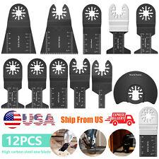 12pcs Oscillating Multi Tool Saw Blades Carbon Steel Cutter Diy Universal