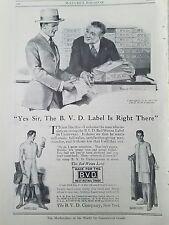 1915 BVD Men's Underwear Vintage Clothing Ad
