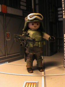 Playmobil Custom Han Solo Unif.   Soldado Imperial. (En solo) Ref-0104 Bis