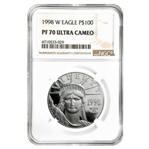 1998-W-1-oz-100-Platinum-American-Eagle-Proof-Coin-NGC-PF-70-UCAM