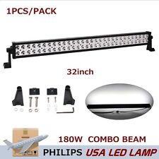 Philips 32inch 180W LED Work Light Bar Spot Flood Beam Off Road Jeep UTE Lamp