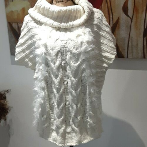 Romeo + Juliet Couture Cowl Neck Sweater Cream sho
