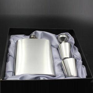 7oz-Portable-Hip-Flask-Flagon-Wine-Bottle-Stainless-Steel-Gift-Box-Fine-2017