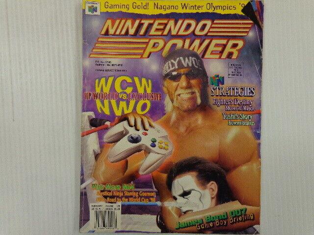 Nintendo Power Volume 105 February 1998 WCW VS NWO Hulk Hogan ...