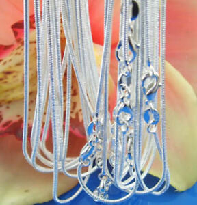 Fashion-20Pcs-925-Silver-Filled-Snake-Chain-Necklace-Jewelry-16-30-inch-Lot