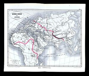 1877 vuillemin map ancient world africa europe asia rome athens image is loading 1877 vuillemin map ancient world africa europe asia gumiabroncs Choice Image