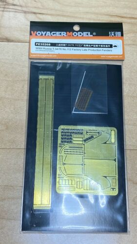 1//35 Voyager Brass Etched Fenders for T-34 Fact 112 Russian Soviet