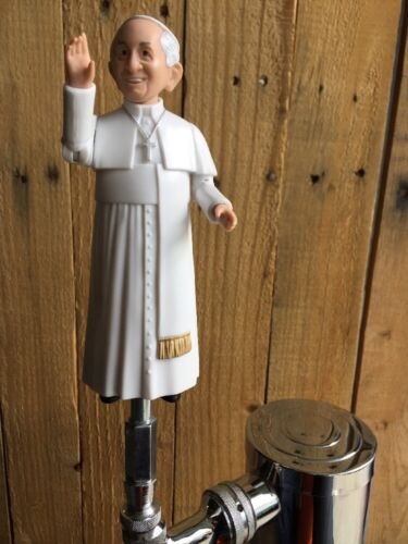 Pope Francis Beer Keg Tap Handle Catholic Vatican City Holy Water Kegerator