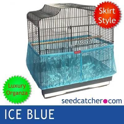 Organza Ice Blue Bird Cage Seme Catcher Guard Tidy Gonna Stile-mostra Il Titolo Originale Risparmia Il 50-70%