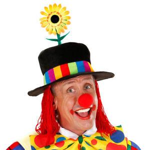 Perücke Clown Schwarz Party Kostüm Accessoires