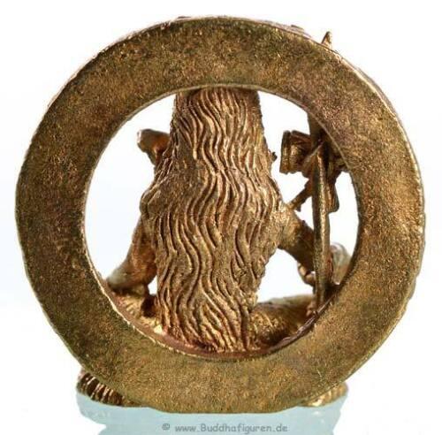 Handarbeit Nepal Shiva sitzend hell Messing Statue mini Ministatue 3 cm
