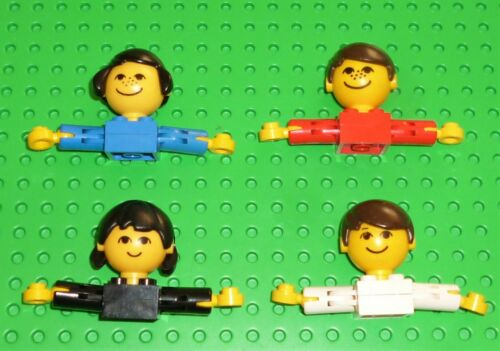 Lego-Femme au foyer-Enfant Figure torse /& Head assemblées X 4 HM2