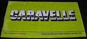 NOS-Mopar-83-Plymouth-Caravelle-Owners-Manual-RWD-COP-FREE-SHIPPING