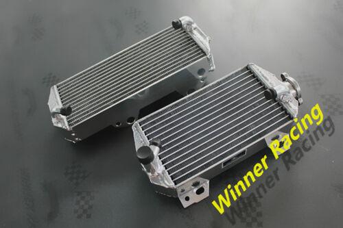 L/&R aluminum radiator fit Suzuki RMZ450 2008-2017;RMX450 09-10 polished Braced
