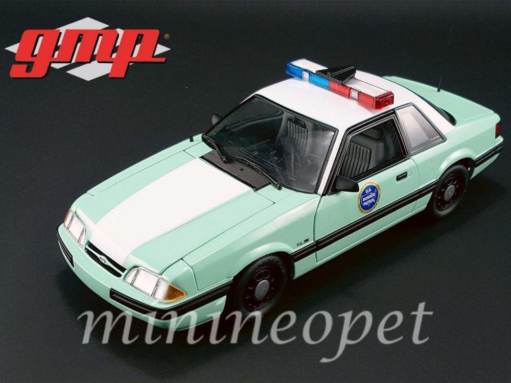 Gmp 3155 1988 ford mustang us - grenzschutz (1   18 ein diecast modell auto grün