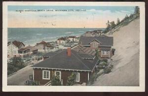 Image Is Loading Postcard Michigan City Indiana In Sheridan Beach Area