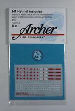 Archer 1/35 Assorted US M1 Steel Combat Helmet Insignias & Markings WWII FG35055