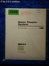Sony Bedienungsanleitung HT SL55 /SL50 /SL40 Home Theater System (#2245)