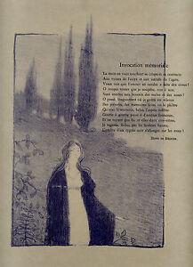 gravure-originale-Maurice-DUMONT-Invocation-poeme-de-Regnier-L-034-Epreuve-034-1895