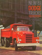 1961 Dodge gran tonelaje Gasolina camiones folleto (usa)