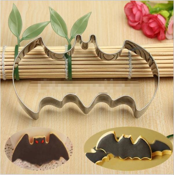 Stainless Steel Fondant Cake Cookies Biscuit Cutter Mold Bat Vampire Decor Mould