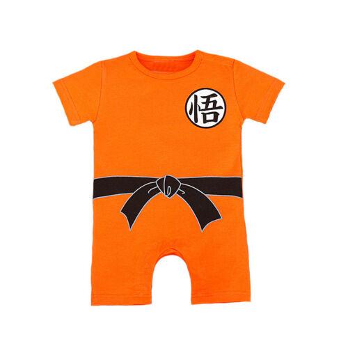 Dragon Ball Goku Costume Baby Newborn Boy Romper Bodysuit One-piece Jumpsuit New