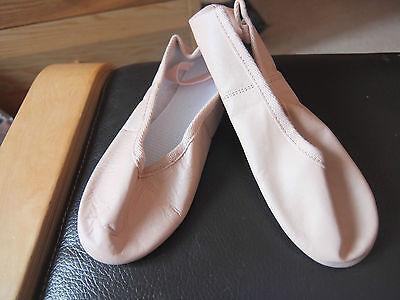Rosa Cuero Completa Suela Zapatos De Ballet-Surtidos Marcas Todos Los Tamaños