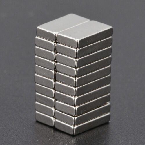 20tlg Rechteckig Starke Neodym Quader Magnete N52 NdFeB Permanentmagnet 10x5x2mm