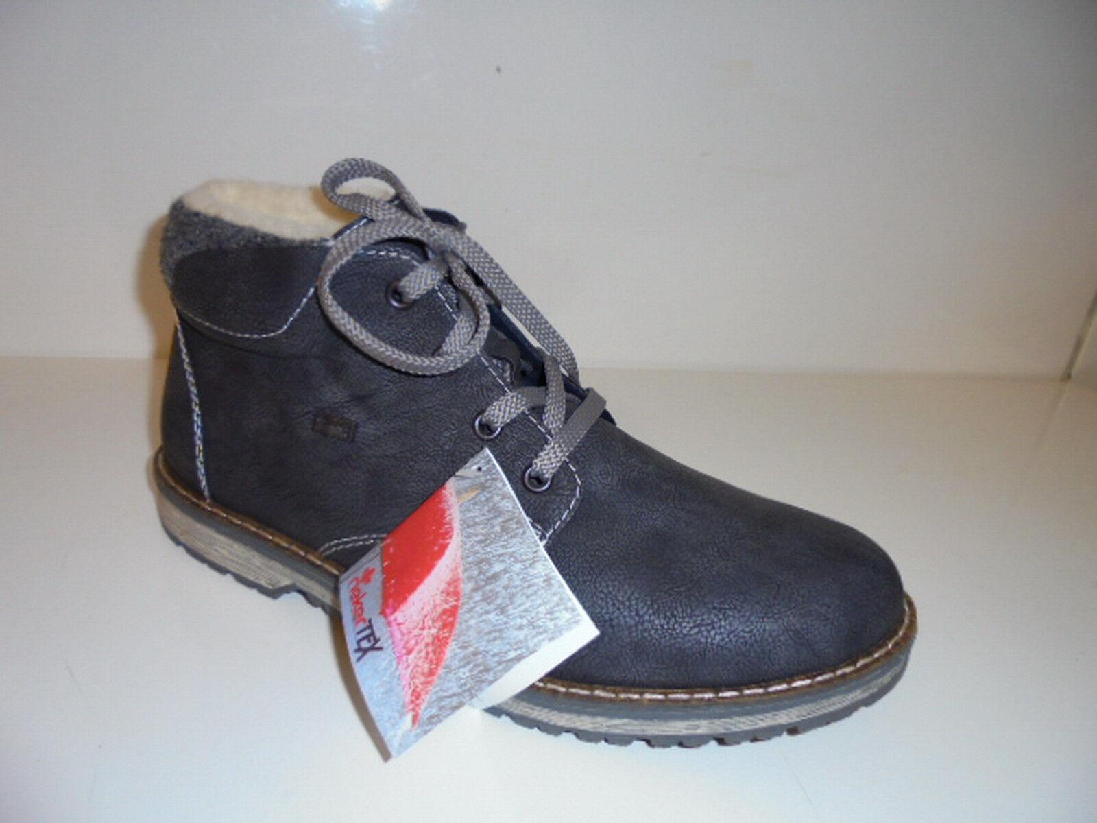 39211 Rieker Herrenschuhe Boots grau Lammwollfutter  Gr. 41