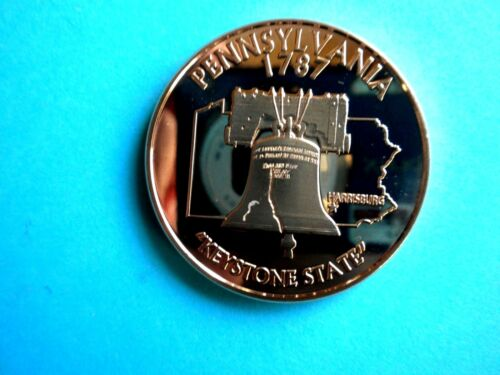 PENNSYLVANIA STATE /& LIBERTY BELL 1OZ  COPPER Rounds