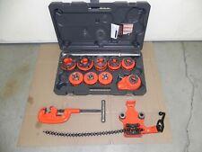 Ridgid 12 R Set 9 Heads18 2 Npt 36505 Rigid Bench Vise Cutter Nice