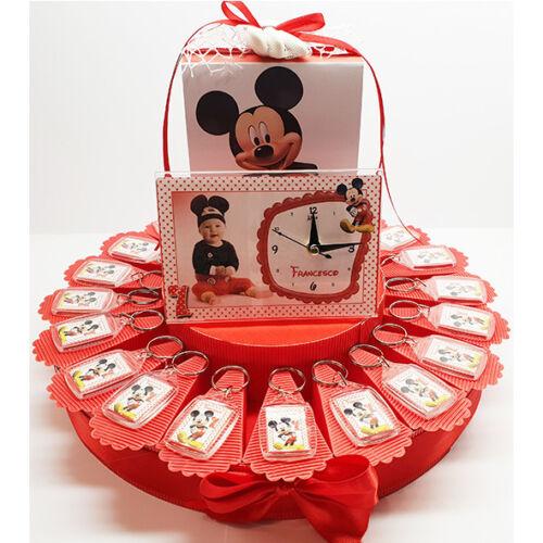 bomboniera Torta topolino portachiavi personalizzato battesimo compleanno