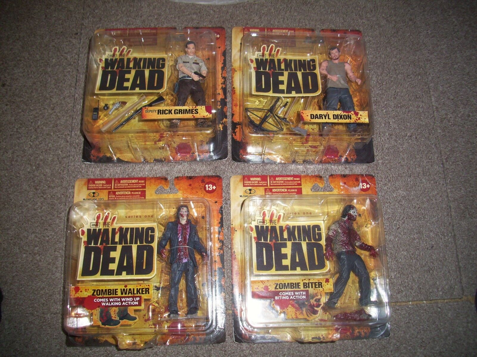 The walking dead series one figures. still sealed