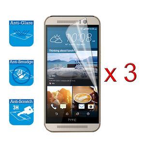 Pour-HTC-ONE-M9-M-9-LCD-Ecran-Housse-Protection-Film-X-3