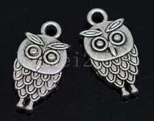 20//60//100pcs retro style Lovely owl alloy charm pendant 18x15mm