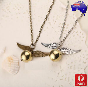 Harry-Potter-Quidditch-Wings-Golden-Snitch-Pendant-Necklace-Gold-amp-Silver