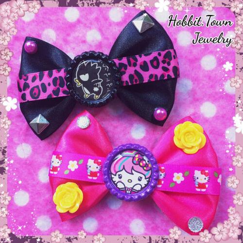 Harajuku Kitty /& Punk Rock Penguin Kawaii Hair Bows