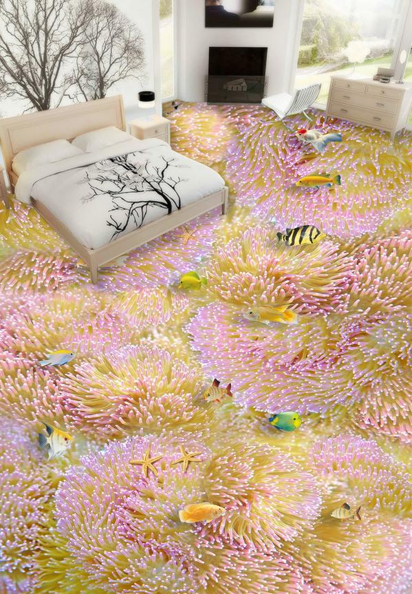 3D Koralle 566 Fototapeten Wandbild Fototapete Tapete Familie DE Lemon