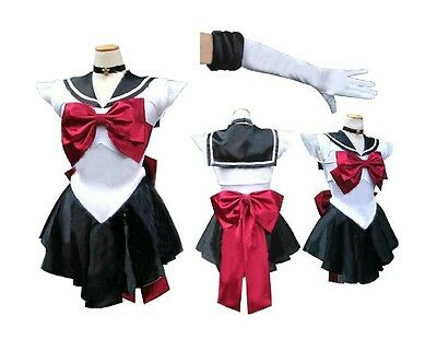 Soldier Sailor Moon Pluto Japanese Anime Cosplay Costume,Any Size(Note pls) 08