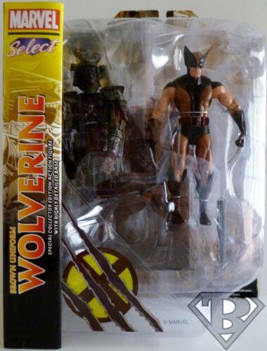 "X-MEN Marvel Select 7/"" inch Figure with Base 2013 BROWN UNIFORM WOLVERINE"