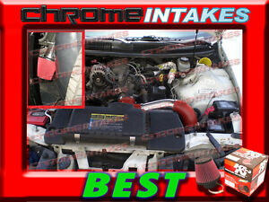 K/&N+BLACK RED 95 96 97 CHEVY CAMARO//PONTIAC FIREBIRD 3.8L V6 FULL AIR INTAKE KIT