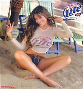 Large Sofia Vergara Miller Lite Beer Ad Refrigerator / Tool Box Magnet Man Cave