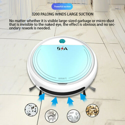 Smart Sweeping Robot Vacuum Cleaner Floor Edge Dust Clean Auto Suction Sweeper L