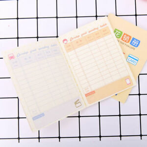 cute notebook planner book family financial accounting budget