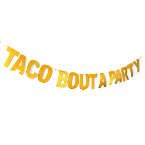 taco bout a party banner mexican carnival party decor glitter paper bunt Fr