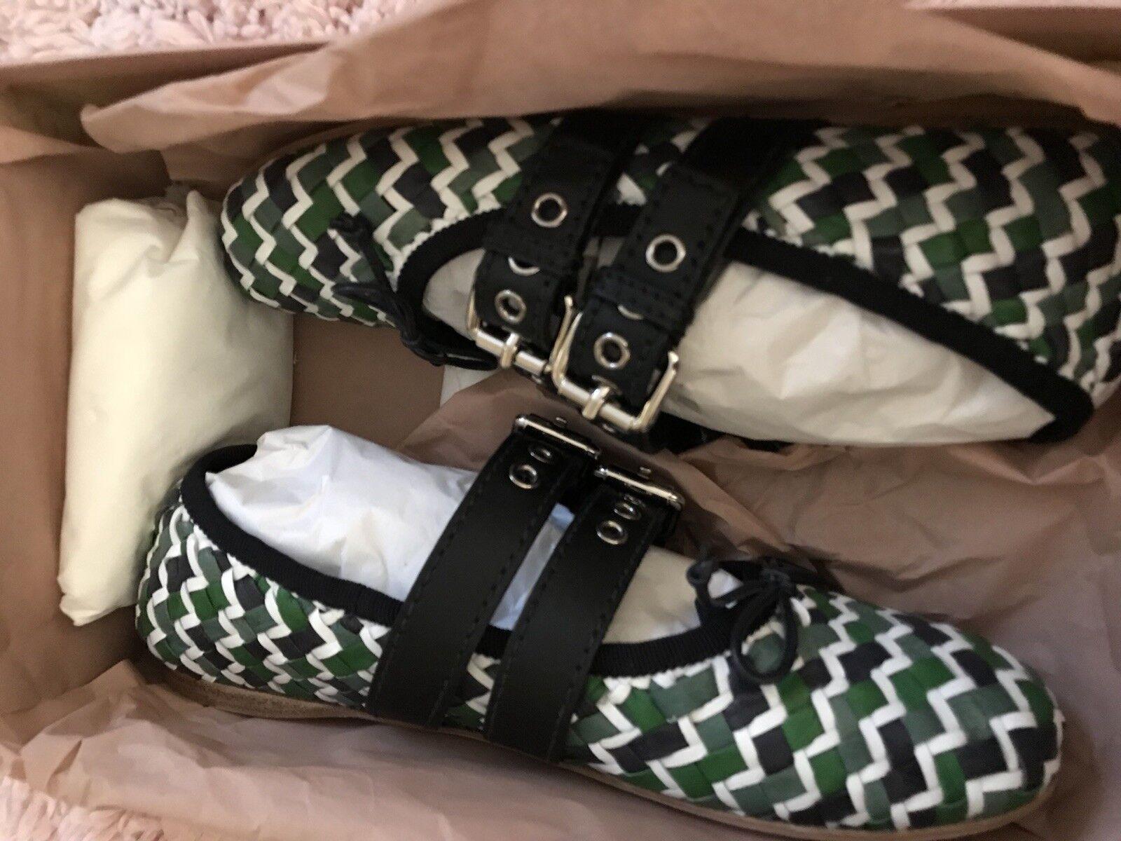 Miu Miu Bailarina Zapatos, Tobillo Wrap Ballet Zapatos Zapatos Zapatos sin Taco Sin Nuevo con etiquetas ventas por menor  890  a precios asequibles