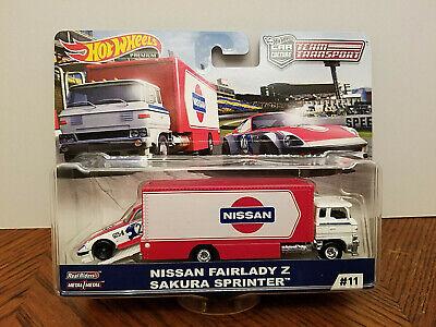 Hot Wheels Team Transport Nissan Fairlady Z Sakura Sprinter Wheel Variation