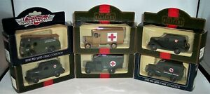 SIX-LLEDO-DAYS-GONE-MILITARY-AMBULANCES-and-FIRE-ENGINES-MINT-BOXED